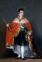 """Fernando II burlado junso a su padre Carlos IV por el Napoleón en la llamada """"Burla de Bayona"""""""