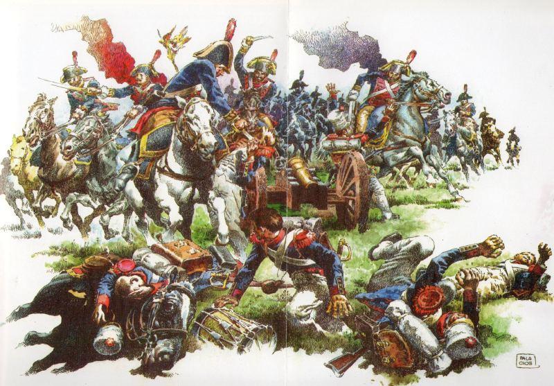 La carga del Regimiento de Línea del Rey la carga de caballería más brillante de la historia militar española Tuvo lugar durante la batalla de Talavera