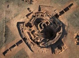 Vista aérea de la Motilla del Azuer.