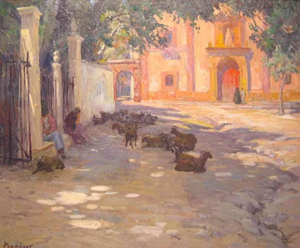 siesta,Ronda-ALBERT SHELDON PENNOYER-1930