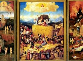 El carro de heno es una de las pinturas más famosas de la producción total del pintor holandés El Bosco. Está realizado en óleo sobre tabla. La tabla central mide 135 x 100 cm, y las tablas laterales 135 x 45 cm cada una.
