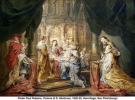 VISIÓN DE SAN IDELFONSO, por PIER PAUL RUBENS-1630-1632- HERMITAGE-SAN PETESBURGO