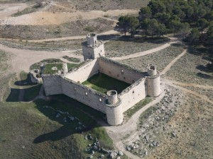 Vista aérea del castillo de Barciene