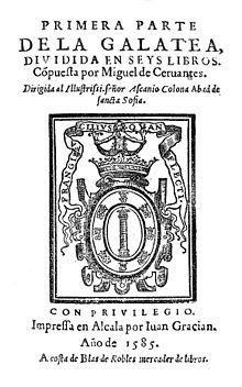 La_Galatea_First_Edition_Title_Page
