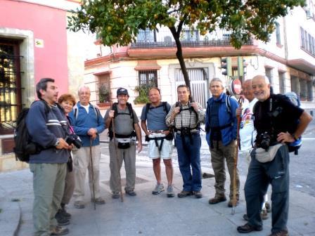Miembros de la Asociación gaditana del Camino de Santiago
