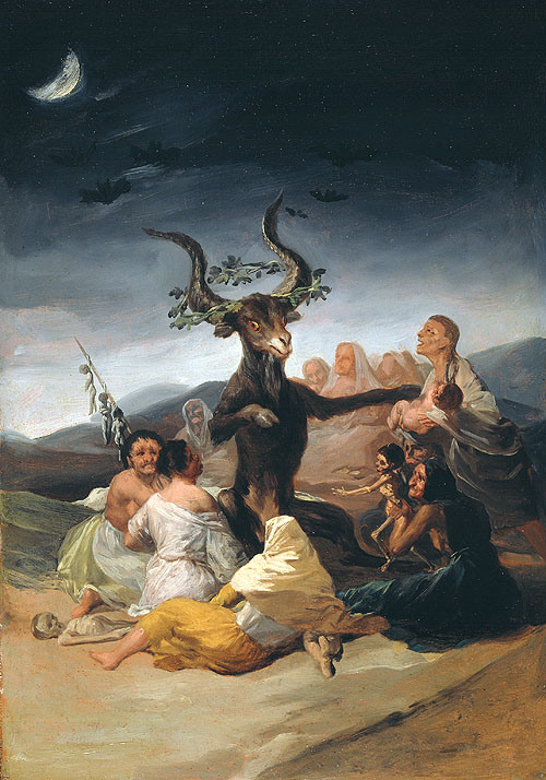 Aquelarre, Óleo de Goya. Museo Lázaro Galdiano- Madrid