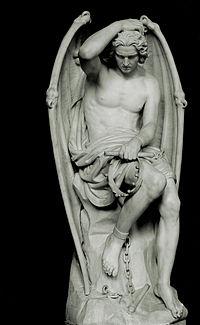 Lucifer, obra del escultor frances, Luc ViatourSegún varias religiones, Lucifer fue en un principio uno de los ángeles más bellos al servicio de Dios
