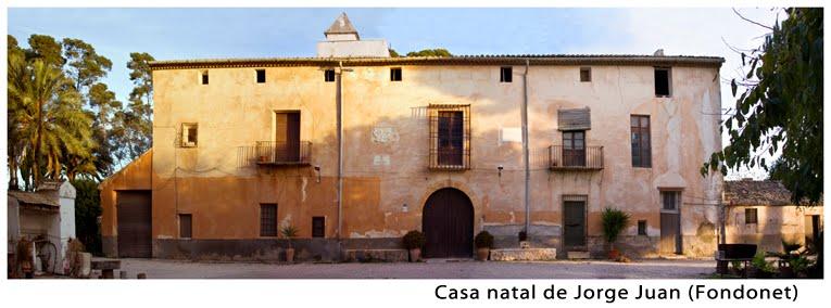 Casa natal de Jorge Juan, en Novelda, Alicante
