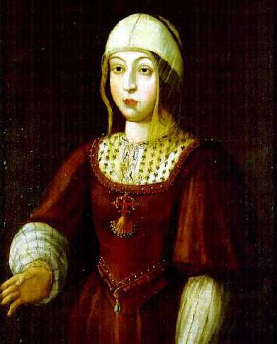 Isabel I de Castilla (Isabel la Católica). Cuadro anónimo, Museo Naval, Madrid