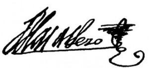 Firma de Blas de Lezo