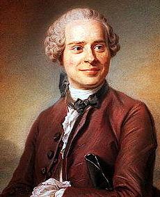 Jean_d'Alembert-Científico y pensador francés de la Ilustración (París, 1717-1783). Sus investigaciones en matemáticas, física y astronomía le llevaron a formar parte de la Academia de Ciencias con sólo 25 años; y resultaron de tal relevancia que aún conservan su nombre un principio de física que relaciona la estática con la dinámica y un criterio de convergencia de series matemáticas