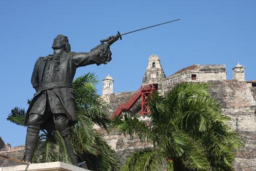 Monumento a Blas de Lezo en Cartagena de Indias
