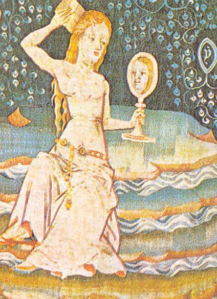Dama mirándose al espejo representado a Jaifa