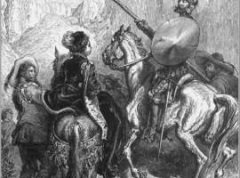 Sancho y Quijote, dibujo de Doré