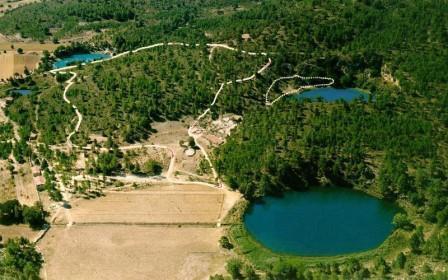 Imagen aérea de las lagunas