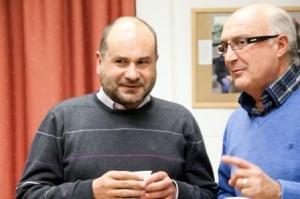 Angel Luis junto a Miguel Romero, Director de la UNED de Cuenca