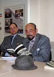 Ramiro Lagos y el poeta cubano Lauro