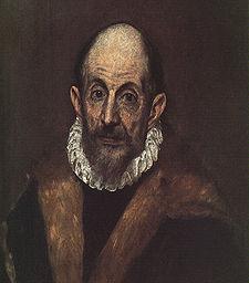 Autorretrato de El Greco de viejo
