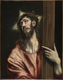 El Greco Cristo abrazando la cruz c. 1587-1596 Óleo sobre lienzo. 66 x 52,5 cm Museo Thyssen-Bornemisza, Madrid