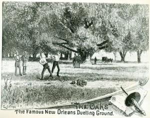 Campo de duelo en Nueva Orleans