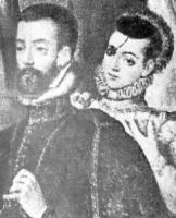 Felipe II y la princesa de Éboli, grabado de la época