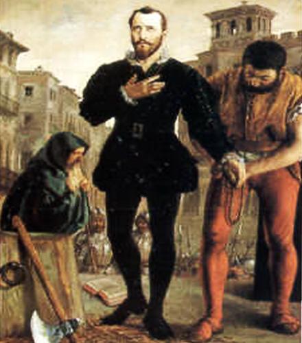 Juan Lanuza, antes de ser ajusticiado
