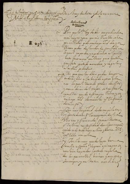Copia de las capitulaciones firmadas por mate masamune  señor de sendai y diego fernández de córdoba, virrey de nueva España