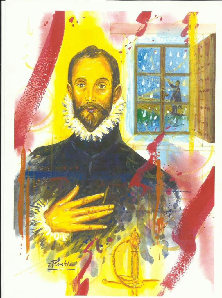 El hombre de la mano en el pecho por Fidel María Puebla