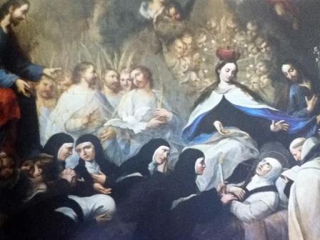 La Muerte de Sta. Teresa de Jesús, Templo del Convento del Carmen, Cdad. de Sn. Luis Potosí, Méjico