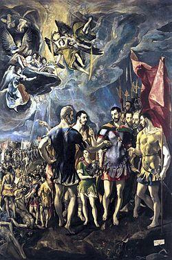 El martirio de San Mauricio, Monasterio de El Escorial.