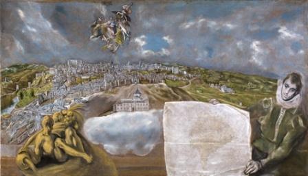 Vista y plano de Toledo. Museo de El Greco.