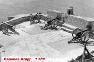 Bateria de Cañones Kruppen 1909