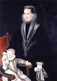 María Manrique de Lara y su hija Polixen. Por el pintor Pantoja de la Cruz