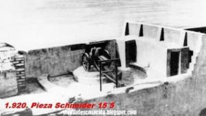 Pieza Schneider de 15-5 pulgdas en 1925