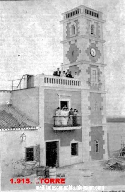 Torre del peñón en 1915