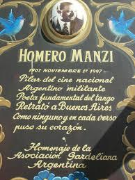 Homenaje a Homero Manzi en el barrio Boedo de Buenos Aires
