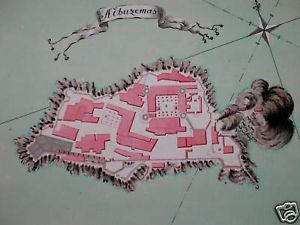 Peñón de alhucemas , plano siglo XVIII