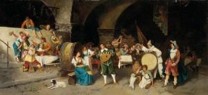 taberna siglo de oro-Luis Ricardo Falero – La Fiesta en la taberna (1880)