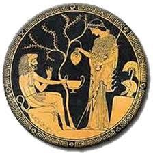 Detalle en un jarrón griego
