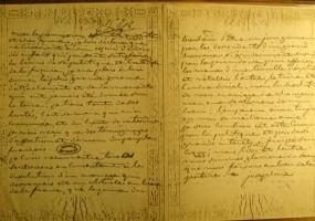 Carta de divorcio entre Napoleón y Josefina