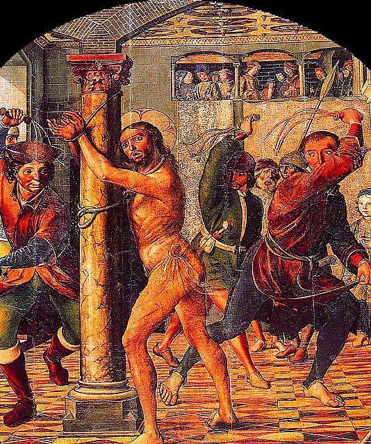 La Flagelación de Jesús-Catedral-Retablo mayor Avila -Pedro Berruguete