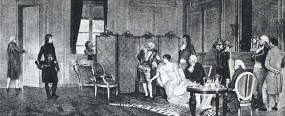 Encuentro de Napoleón y de Josefina Cuadro de Jules-Georges Bondoux