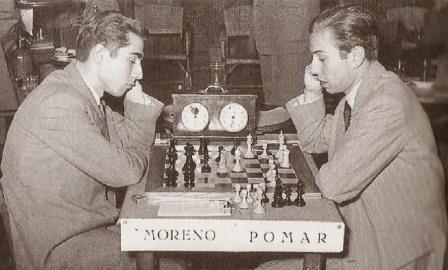 Partida entre Pomar y Moreno, Tarragona,1951