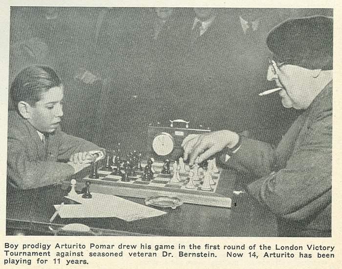 Partida entre Pomar y Berstein, Londres 1946