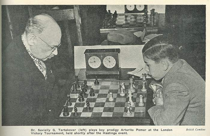 Partid entre Pomar y Tartakover, Londres 1946