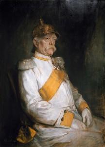 Franz von Lenbachretrato 's de Bismarck, pintado en su 75o año.