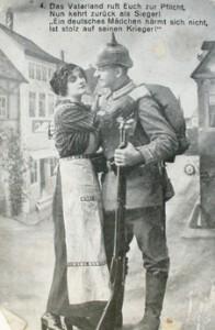 Postal de un soldado alemán despidiéndose